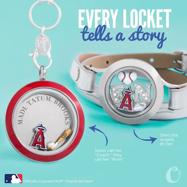 Anaheim Angels Origami Owl Living Locket | Shop StoriedCharms.com and create your locket today!