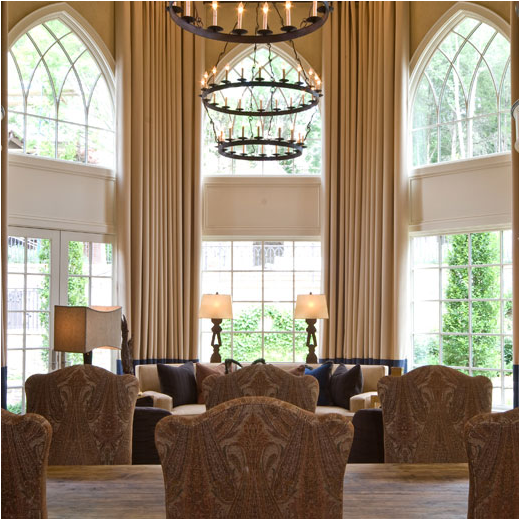 This Room Does The Same As One Above But Also Allows Chandeliers Help Bring Focus To Height Of Ceilings