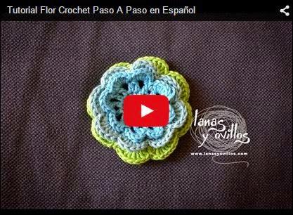 Tutorial de flor tejida al crochet