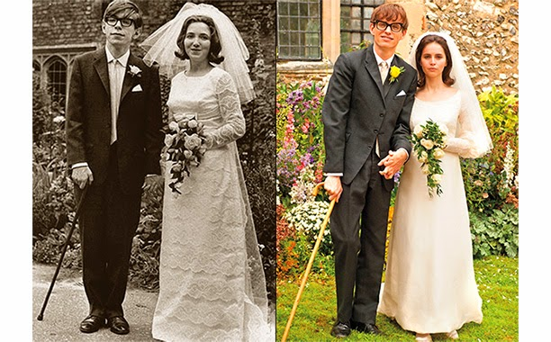 Stephen and Jane Hawking, Eddie Redmayne and Felicity Jones