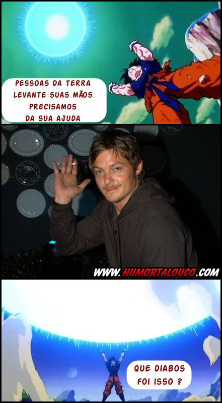 Tirinha: Quando Daryl Dixon resolve ajudar o Goku... - The Walking Dead HUMOR