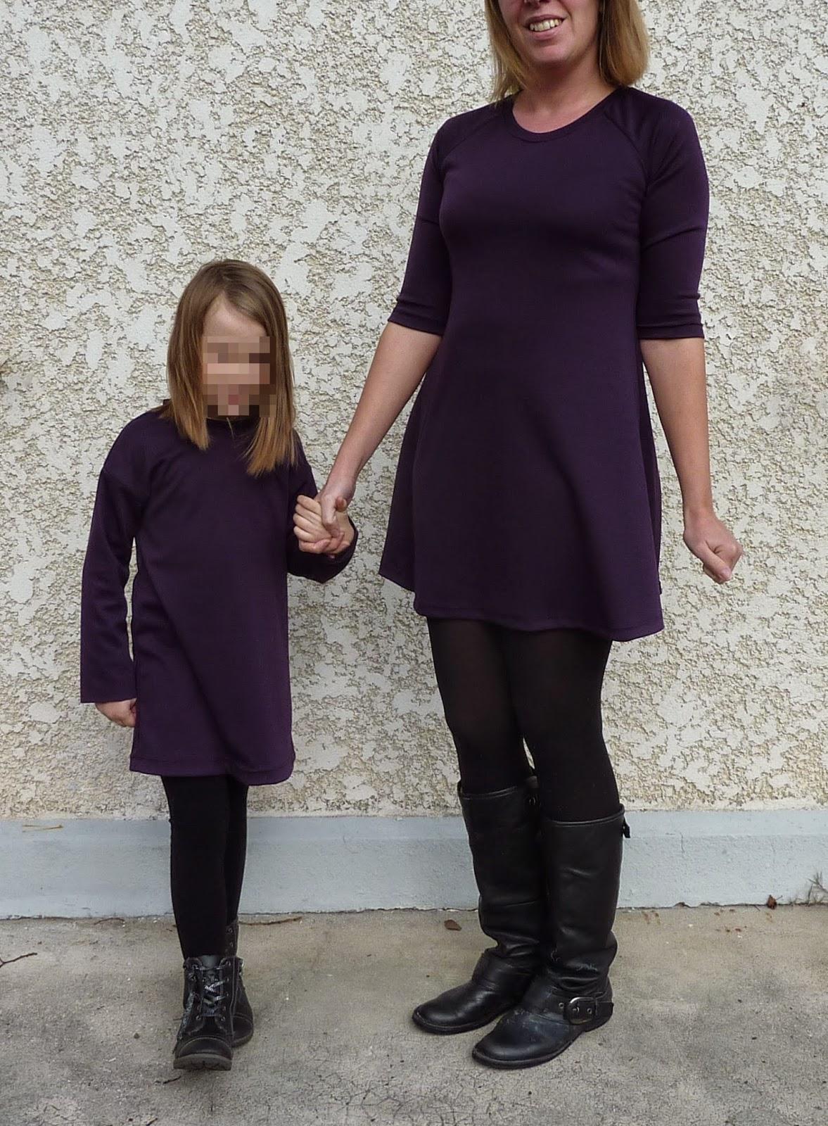 La famille cr ative duo de robes m re fille - Robe mere fille ...