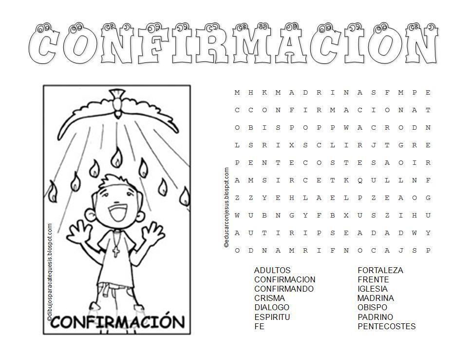 Matrimonio Catolico Colombia : Educar con jesús sacramentos de iniciación sopa letras