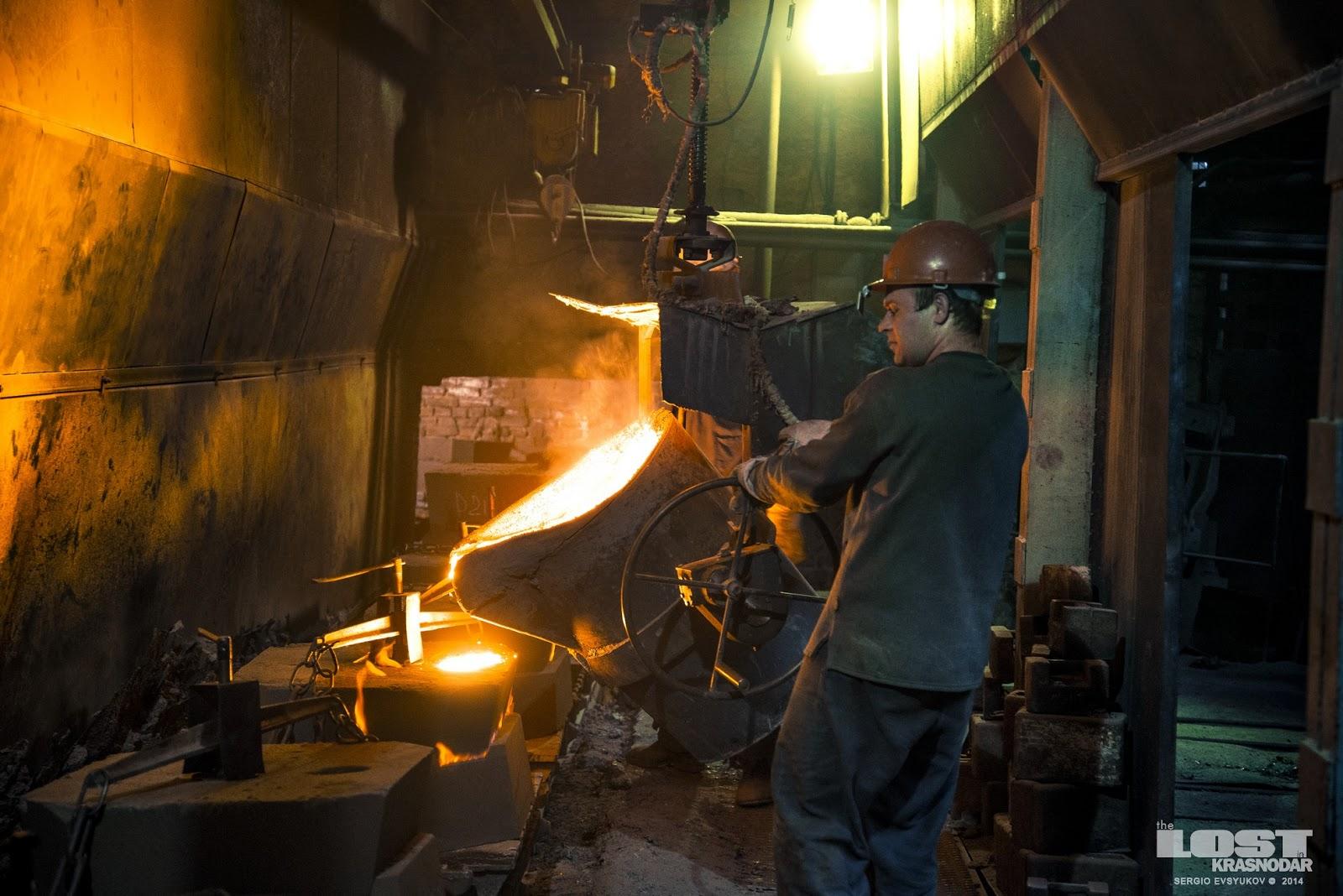 Литейный цех армавирского завода