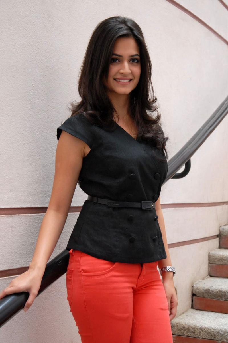 Kriti Kharbanda Cute Images In Black Dress
