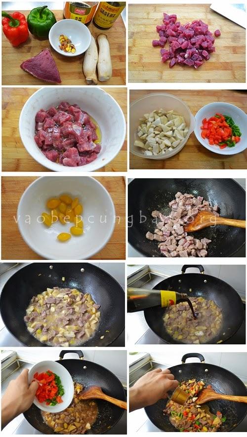 Cách làm thịt bò sốt tiêu đen cực ngon 1