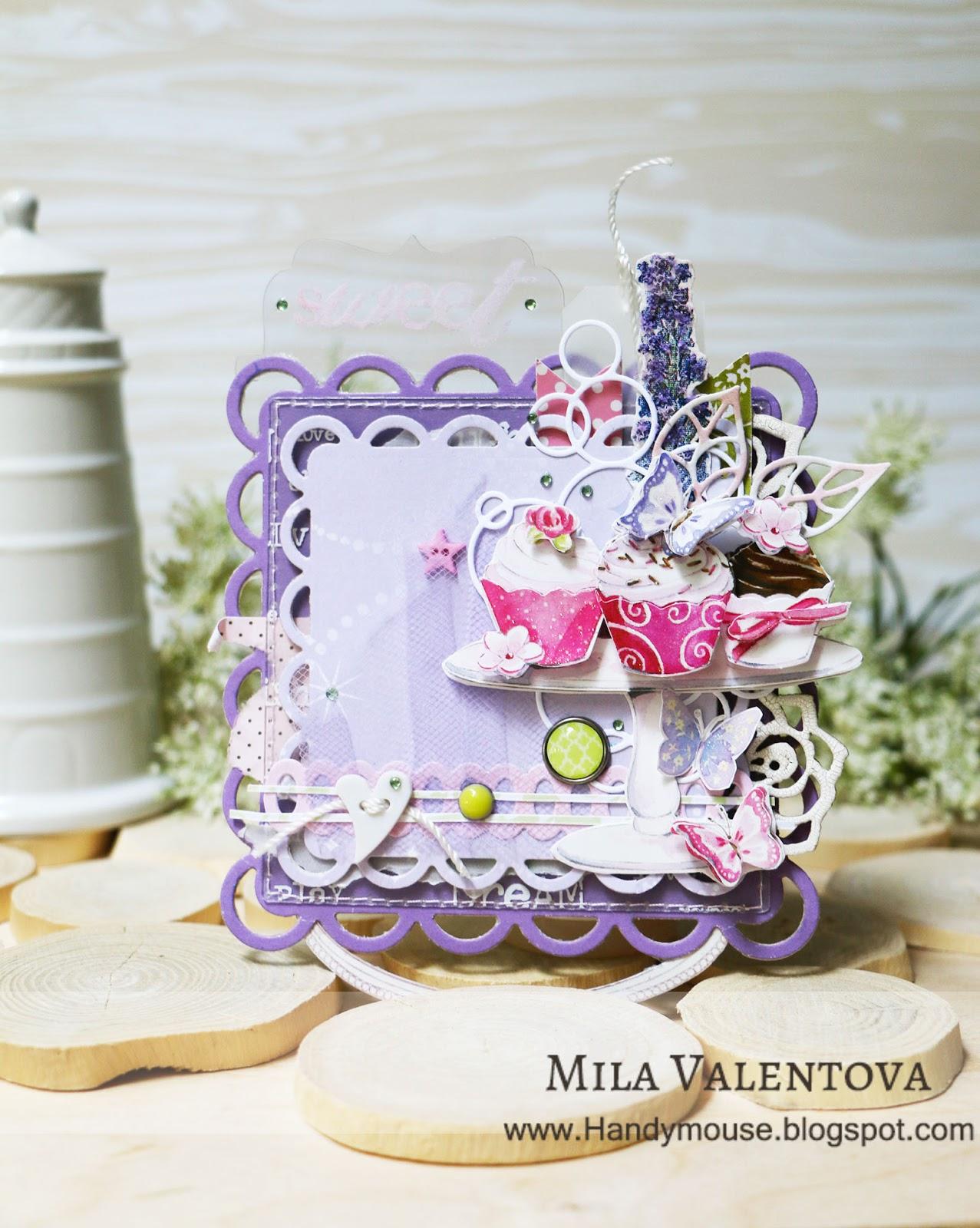 Магнит Лаванда и розовые сладости. Мила Валентова.