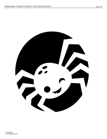 spider pumpkin stencil.