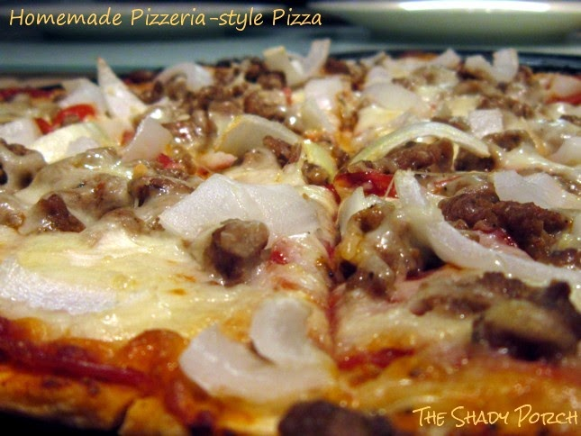 Close-up of the Best Homemade Pizzeria Style Pizza