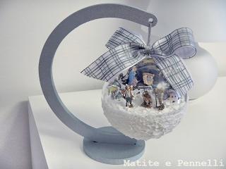 Pallina plexiglass 3D presepe