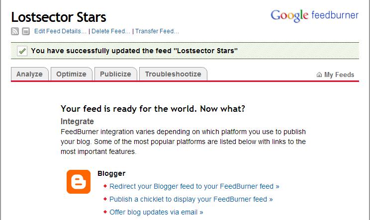 Cara Mendaftar di Google Feedburner