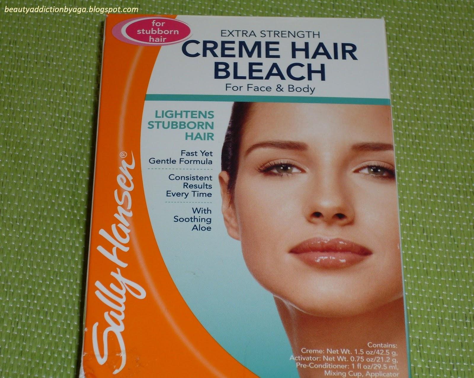 sally hansen creme hair bleach for face instructions
