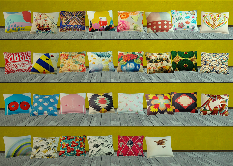 My Sims 3 Blog Pillows And Decor Conversions By Florence