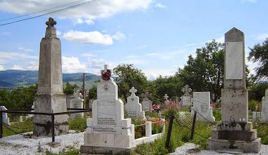 Monumentele eroilor din cimitir ( I RM: 123 eroi; II RM: 52 eroi)