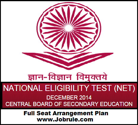 NMU Jalgaon (Centre Code 81) CBSE UGC NET December 2014 Block Wise Seat Arrangement/Seating Plan Details