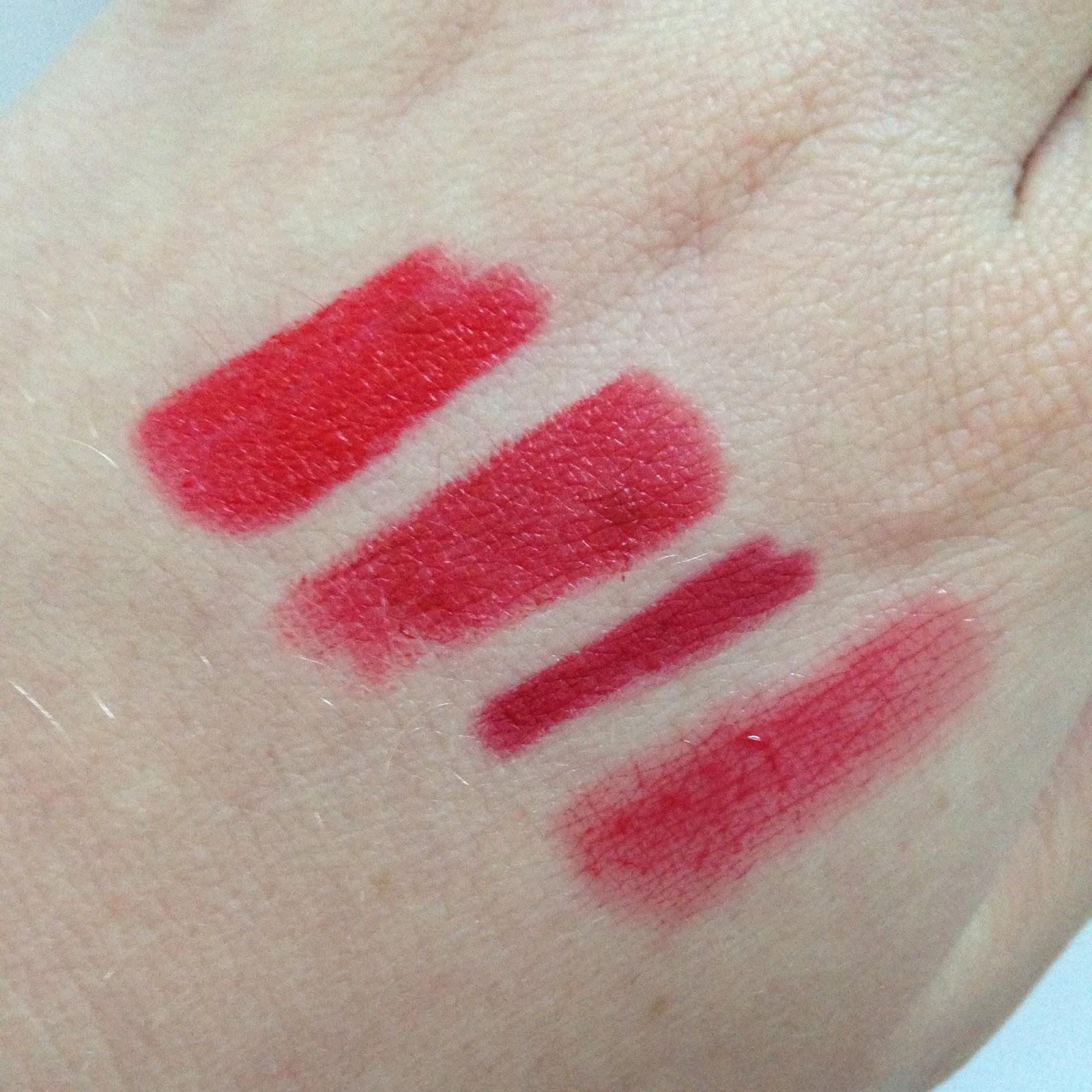 red lipstick swatch