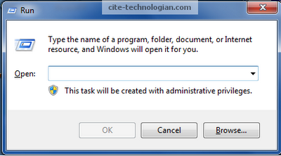 open registry editor windows 7