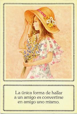 postal retro años ochenta