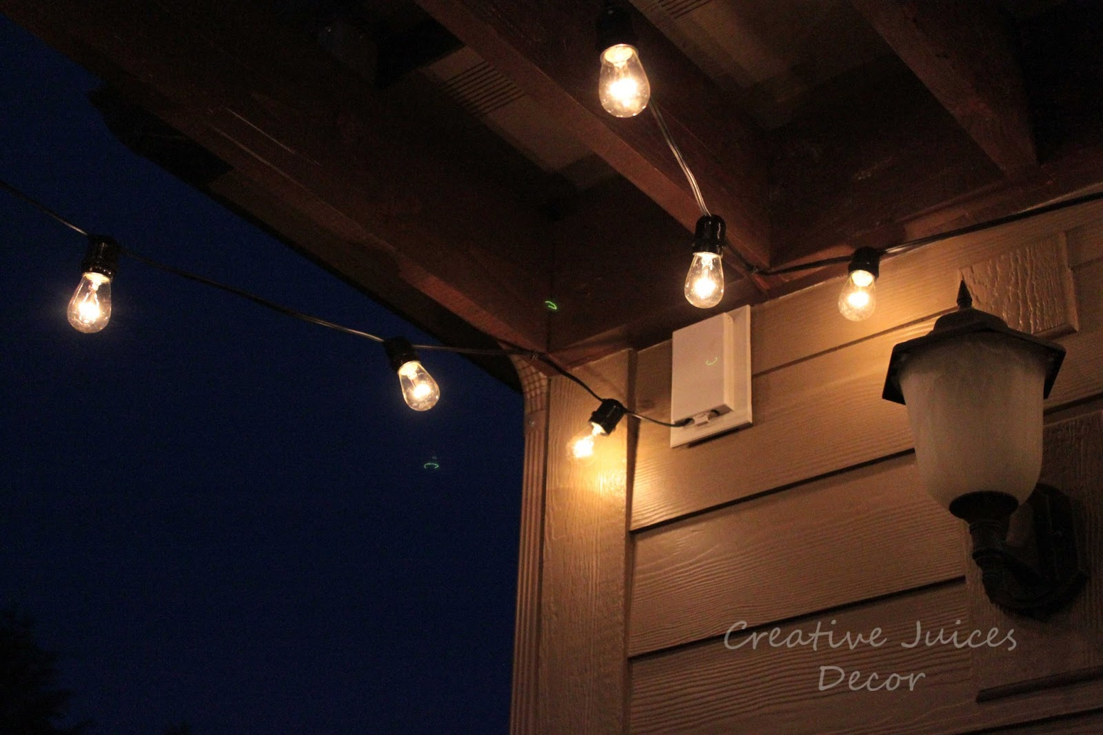 decor adding string patio lights to the pergola glamorizing part ii