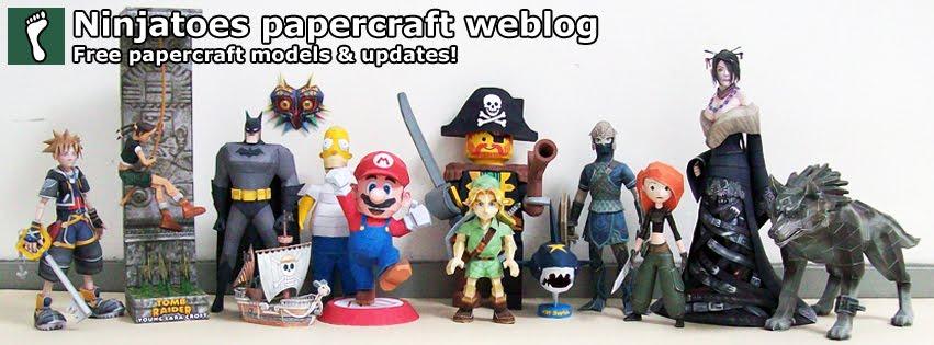 Ninjatoes' papercraft weblog