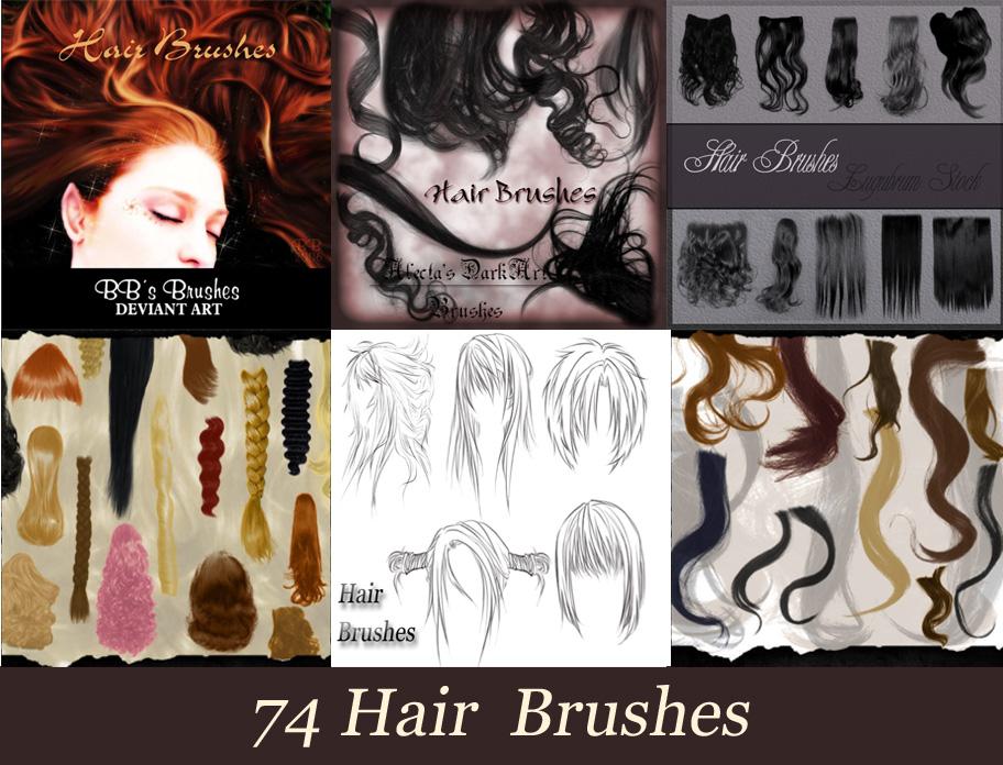 74 Hair Brushes Photoshop Cs6 Photoshopcs6aulas