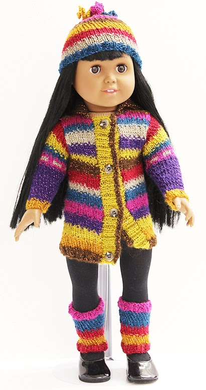 Pattern from the book Knits for Dolls by Nicky Epstein