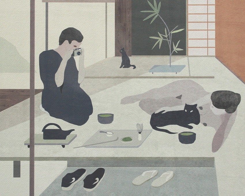 にほん 15 | Matcha Morning © Jon Koko | Ilustración