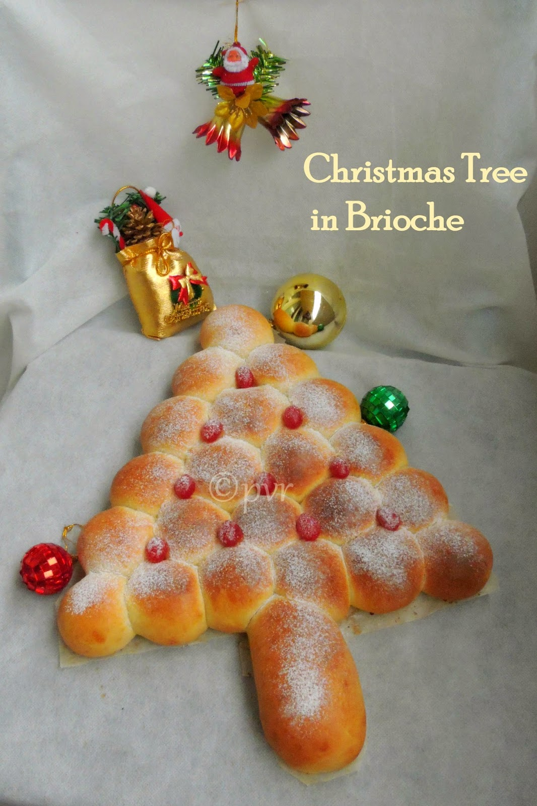 Xmas tree, Sapin de noel, christmas tree in brioche