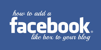 Add Facebook Like Box