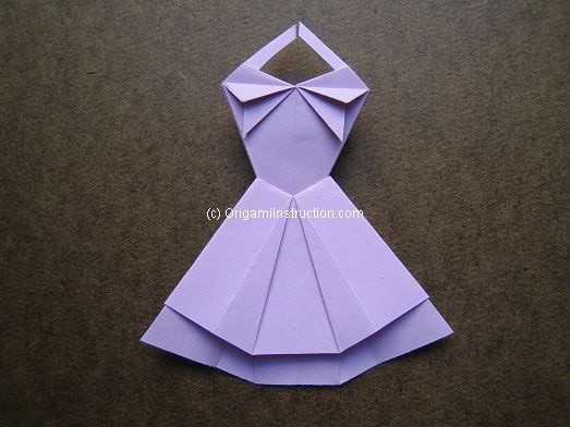 Origami Instruction.com: Origami Trapeze Dress