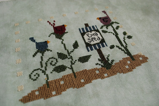 Cross Stitch, WIP, Bird Seed, Bent Creek, Work in Progress, Just Cross Stitch Mag