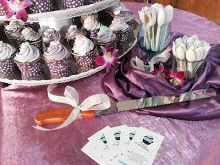 purple wedding cupcake