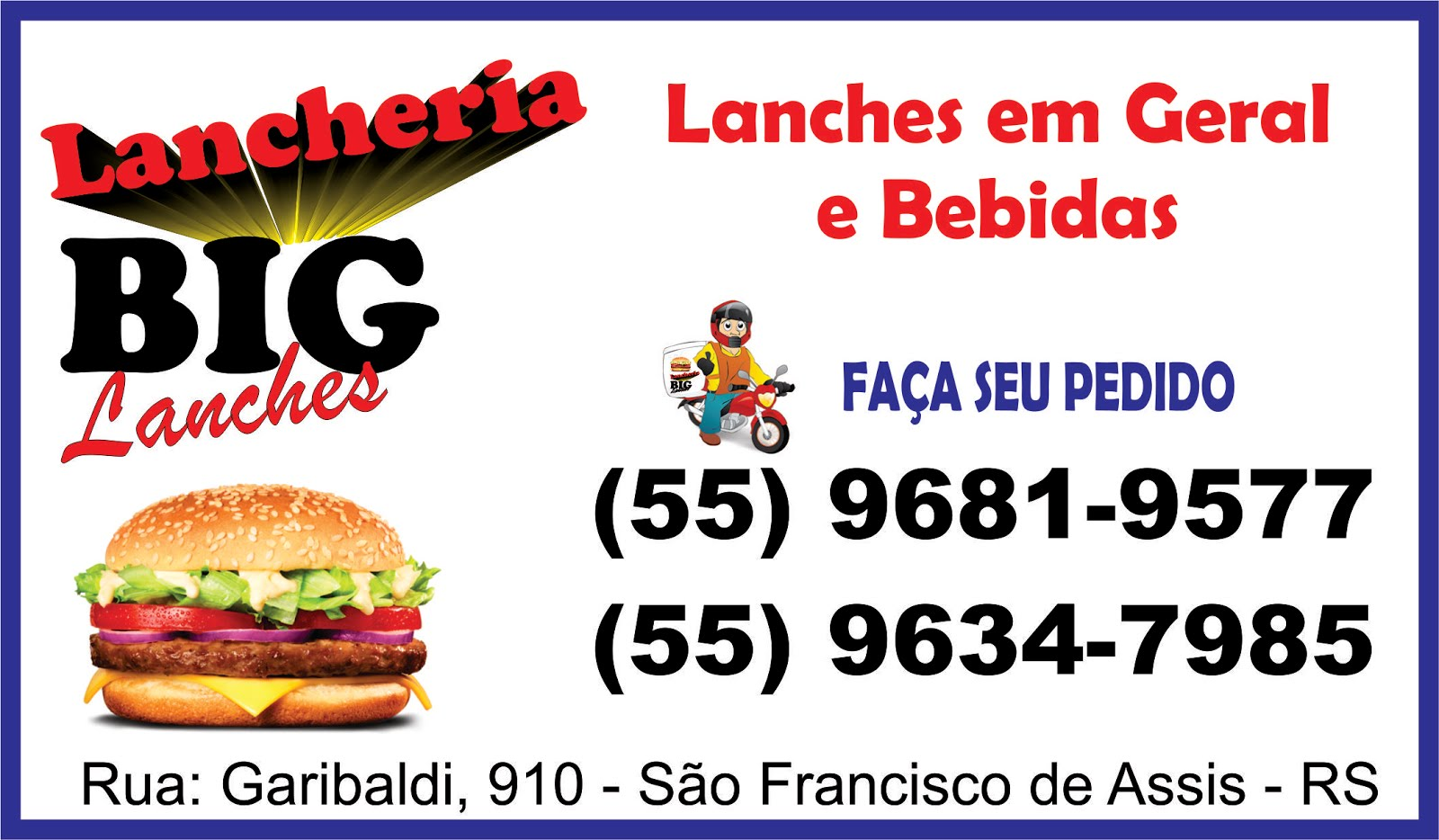 Lanches na hora...