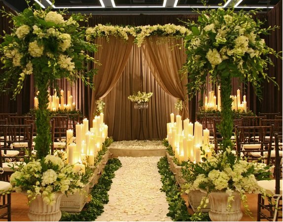 Outdoor wedding aisle decorations living room interior for Aisle decoration