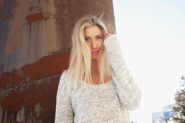 aritzia sweater dress, Talula grey knit dress