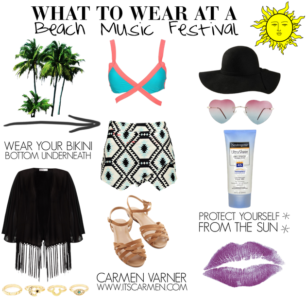 bef3dfe8ee1b What to Wear at a Beach Music Festival   Carmen Varner    Lifestyle ...