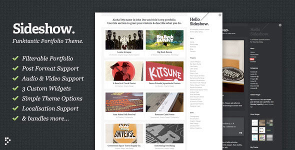 Image for Sideshow – Funktastic Portfolio Theme by ThemeForest