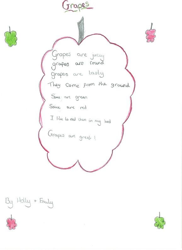easy peasy english lessons short poems about fruit and veggies  melonhead by tim burton