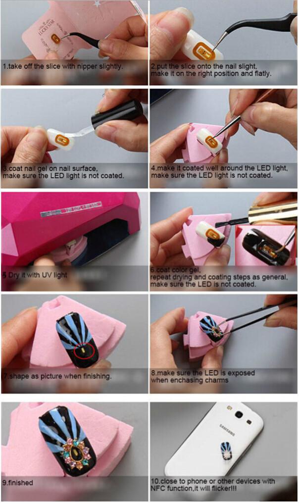 OhWowToday: NFC LED Japan Nail Art Stickers