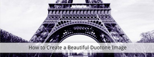 how to create a duotone image in Photoshop