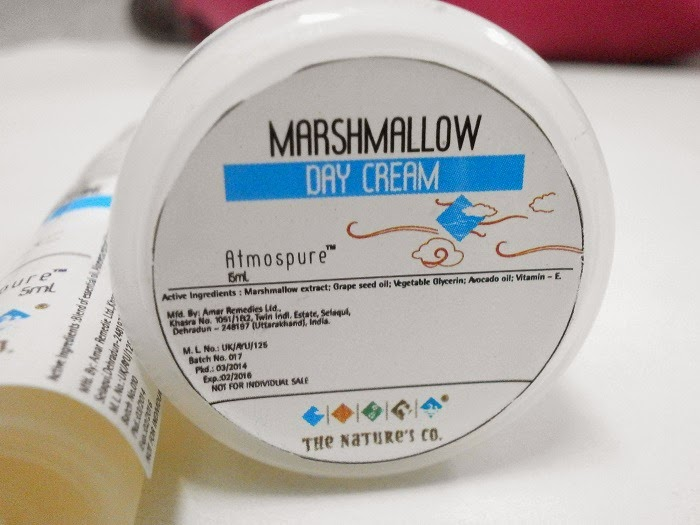 The Natures Co Marshmallow Day Cream in Beauty wish box March