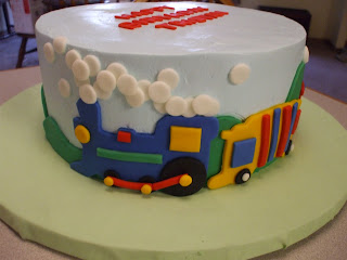 The Simple Cake Train Birthday Cake