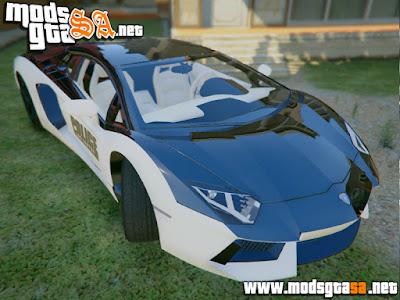 V - Lamborghini Aventador da Policia para GTA V PC