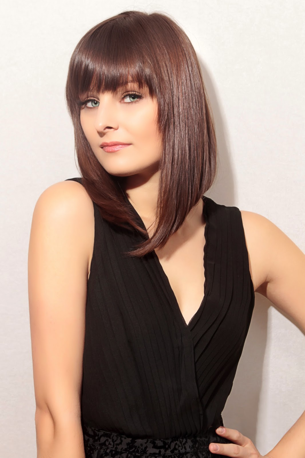 Short A Line Bob With Bangs Best Short Hair Styles