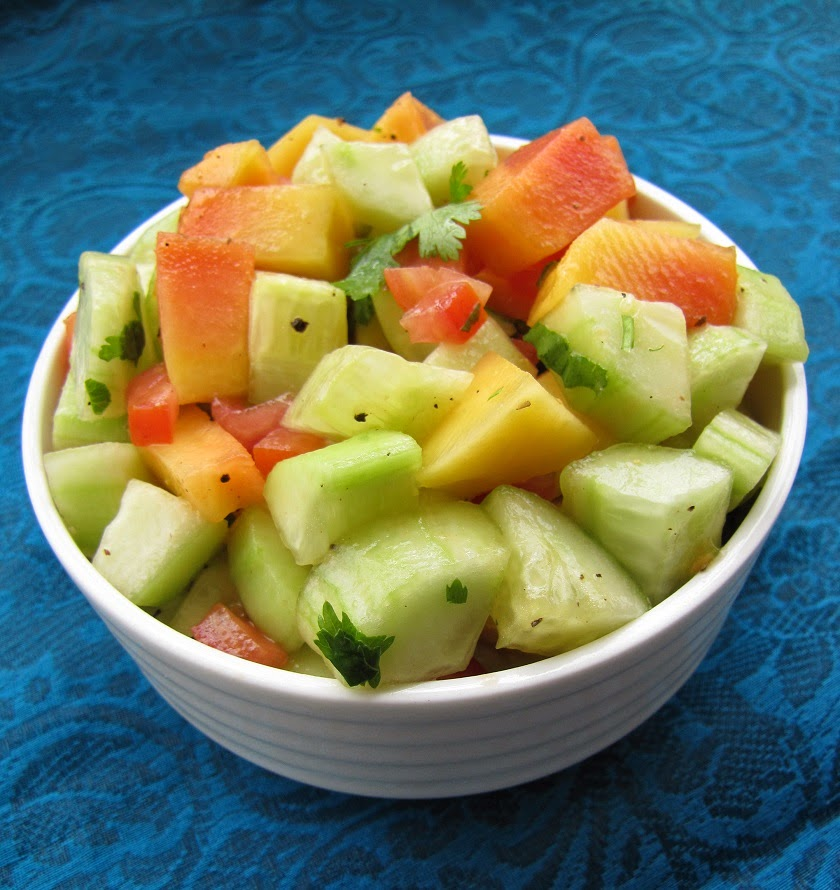 The Healthy Tasty Cucumber Papaya Salad