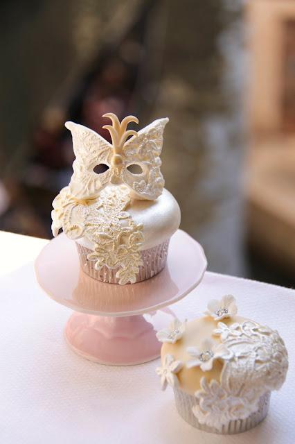 cupcakes con encaje de azucar