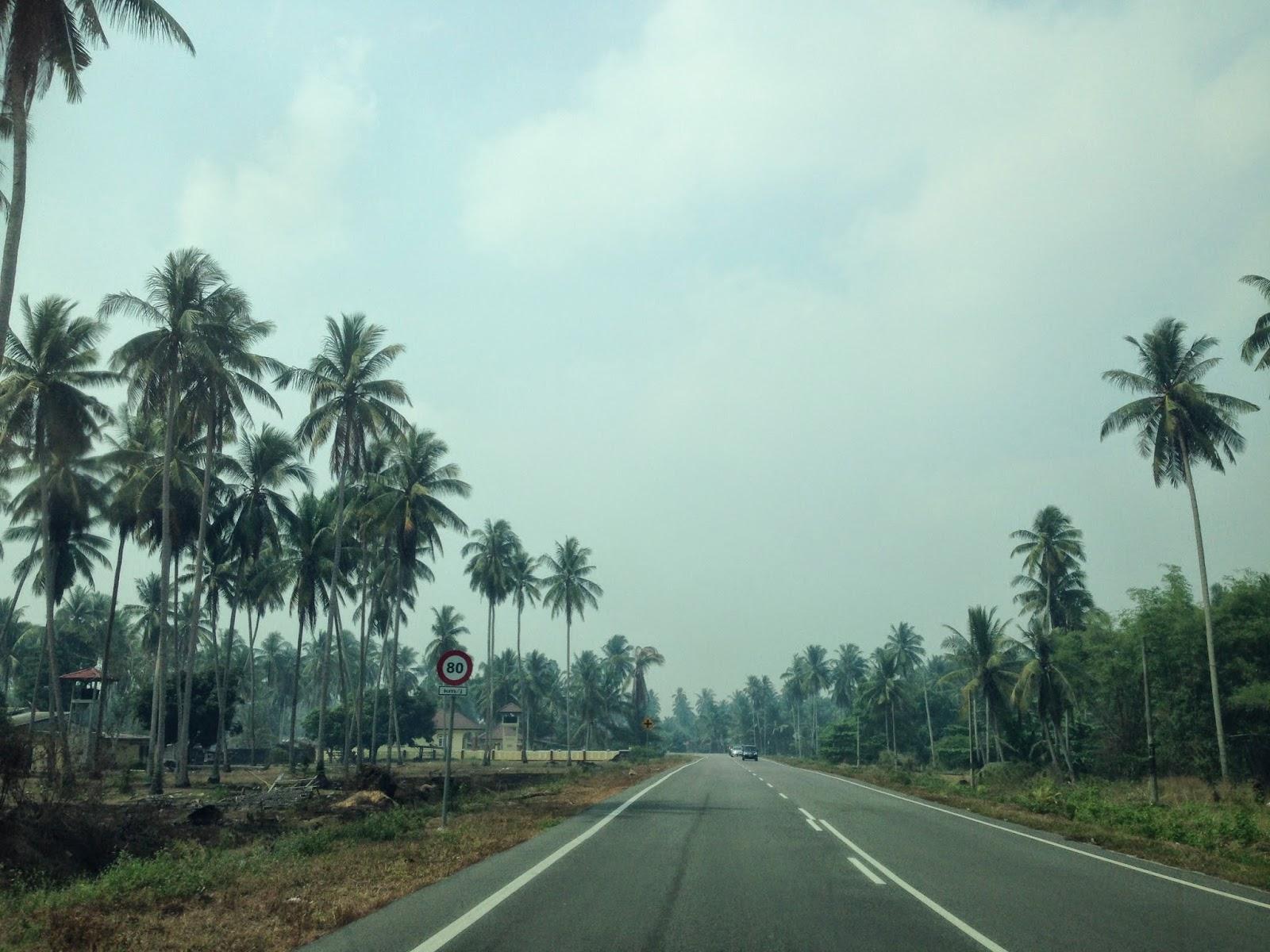 Coastal road in Kelantan