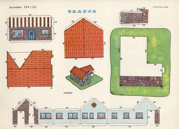 Todorecortables sue os de papel casas de recortables for Fotos de casas modernas para imprimir