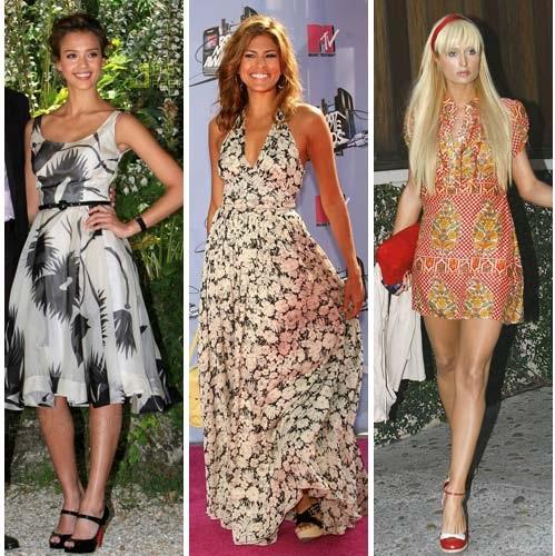 cicekli elbise modelleri cesitleri 2013 Çiçekli elbise modelleri