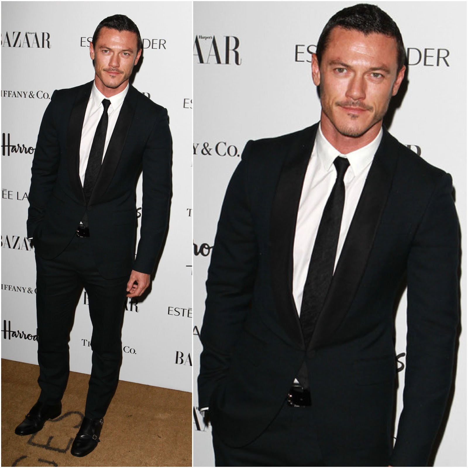 00O00 Menswear Blog London Luke Evans Alexander McQueen Harpers Bazaar 2012 awards